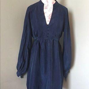 Rebecca Taylor Silk Shirt Dress Tunic With Slip 2